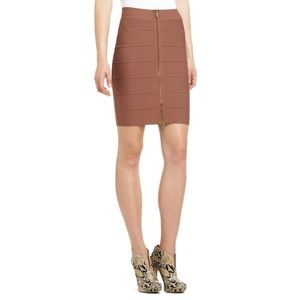 Bcbg toffee zipper bandage skirt